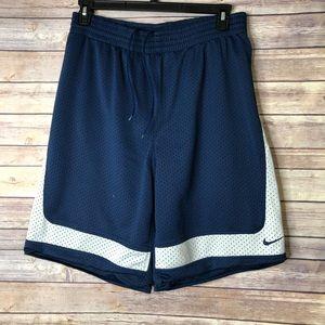 EUC NIKE Navy/blue/white basketball shorts M